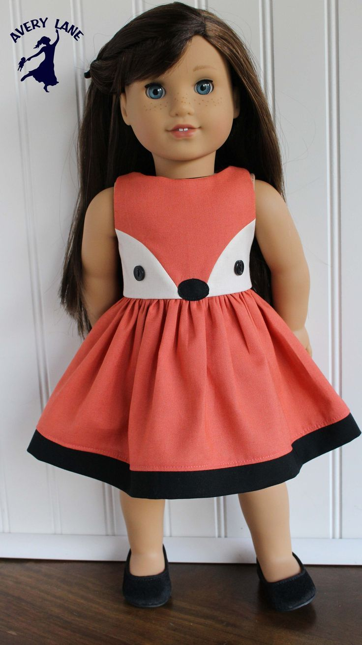 Just Released: Fiona Fox Dress Pattern A new doll clothes pattern ...