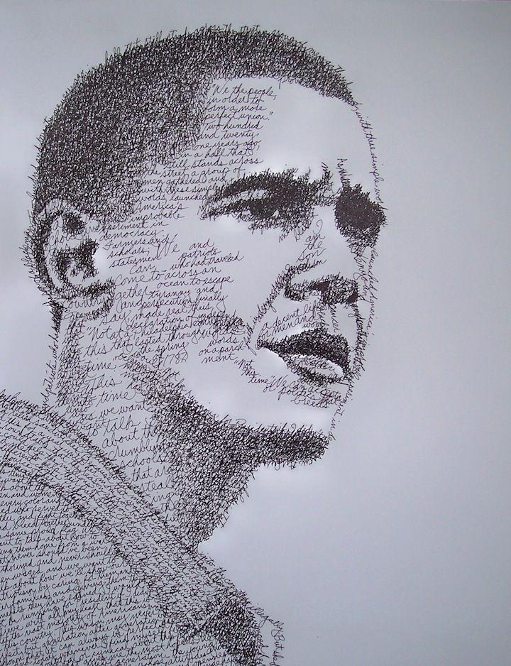 Word Portraits | Word art, Portrait, Art