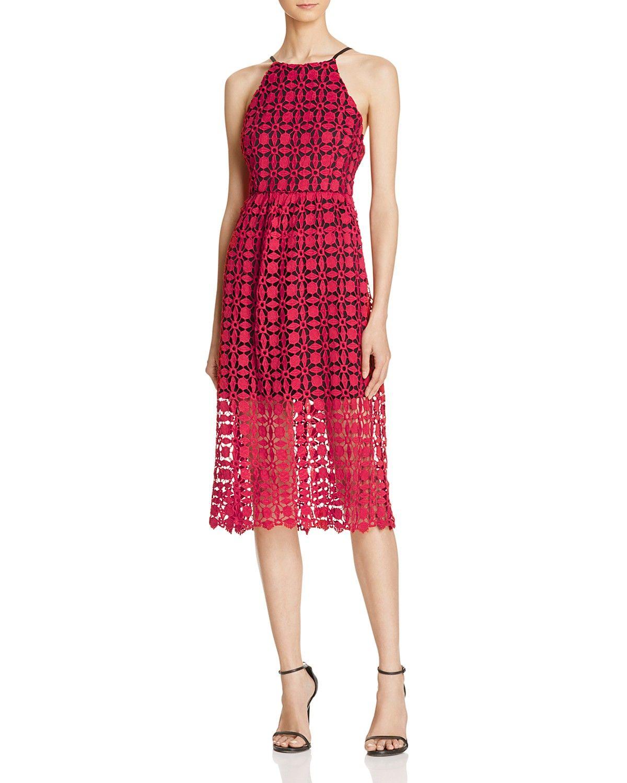 Aqua Lace High Neck Midi Dress Women Bloomingdale S Red Sparkly Dress Lace Dress Casual Lace Blue Dress [ 1500 x 1200 Pixel ]
