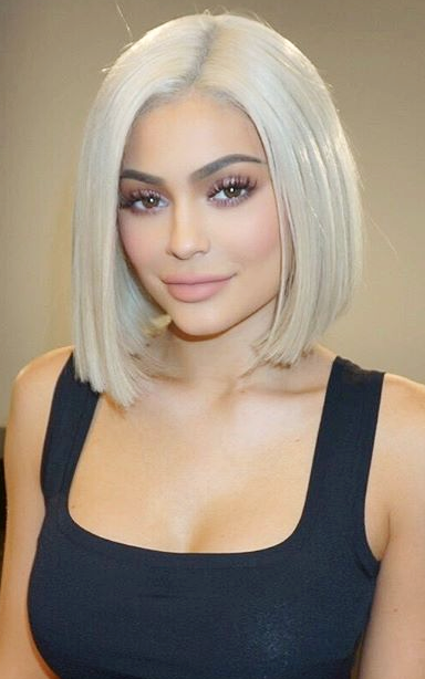 Kylie Jenner Steps Out Sporting an Insane Platinum