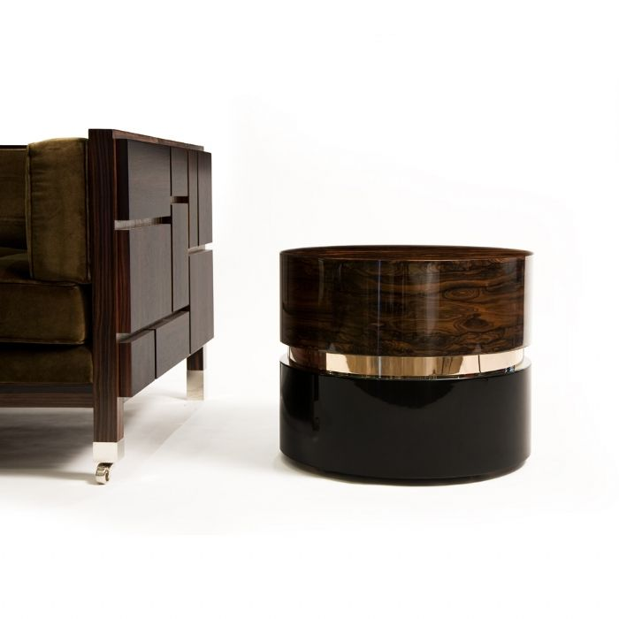 Louis Occasional Table Black Lacquer Base Piano Finish