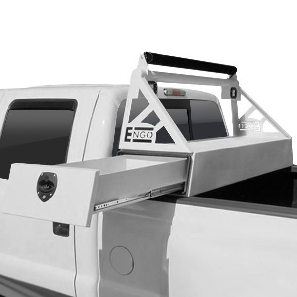Engo Headache Rack With Side Slide Tool Box