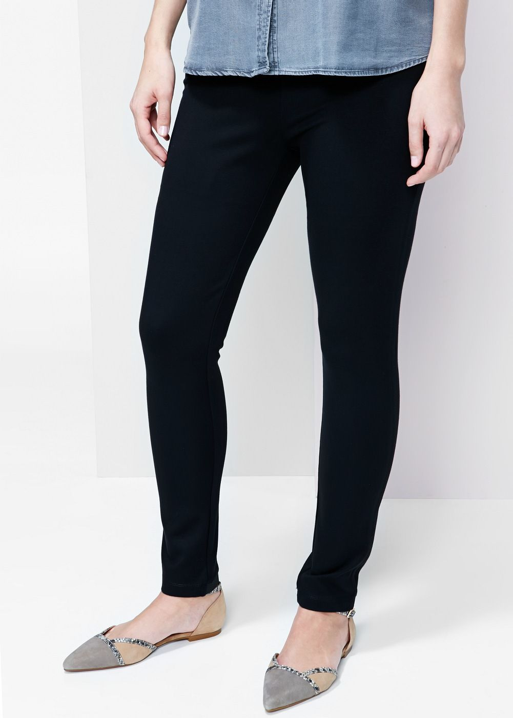 Punto-di-roma legging - Grote maten | Ponte leggings and Spring
