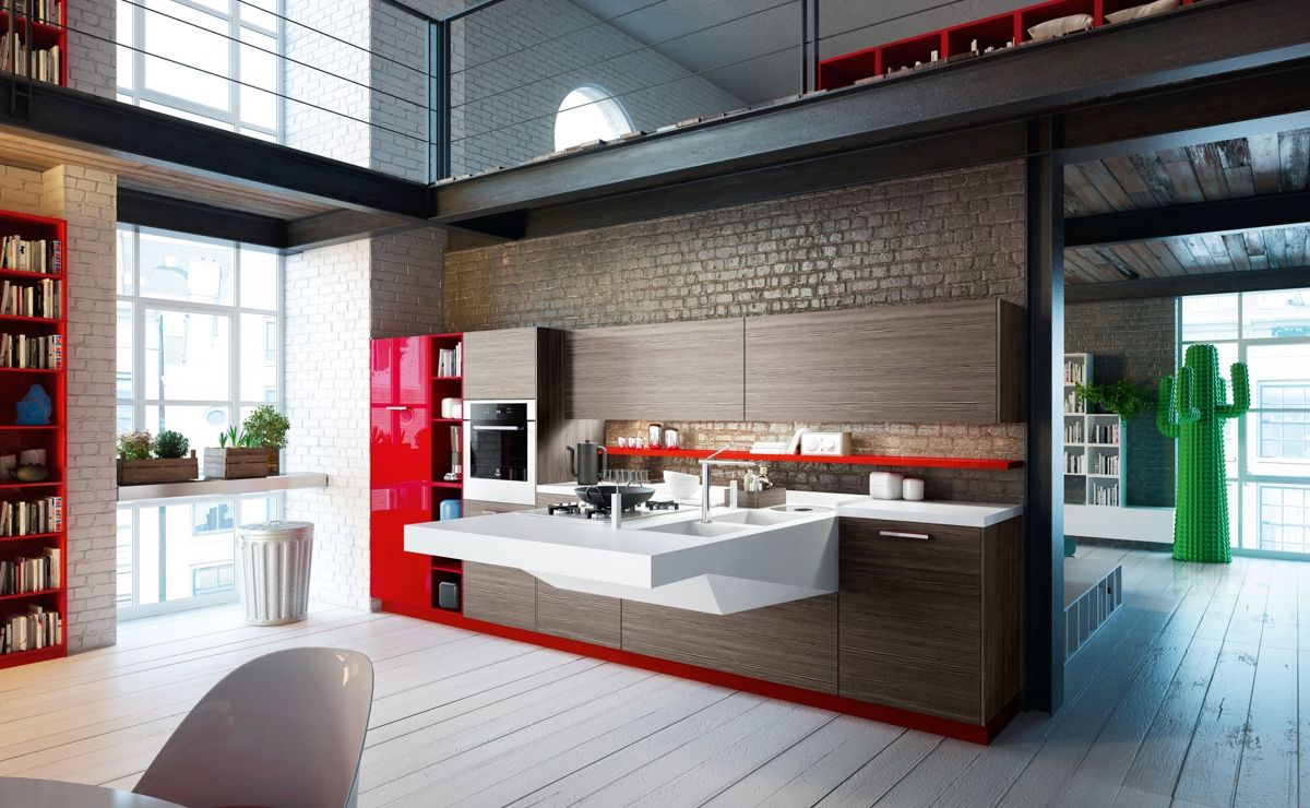 50 Modern Kitchen Designs That Use Unconventional Geometry Cool
