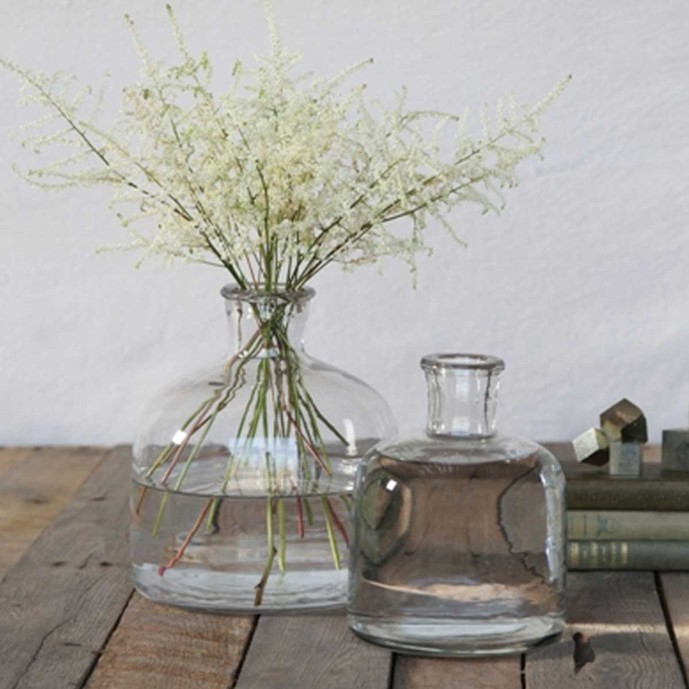 Glass Bottle Vase Available In Two Sizes In 2020 Glass Vase