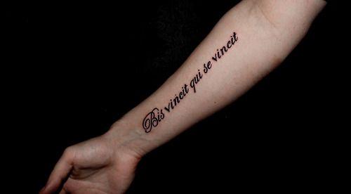 Vincit qui se vincit tattoo