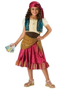 Homemade Gypsy Costume | Gypsy Child Costume A Fun Loving Fortune Teller  Costume Includes Dress .