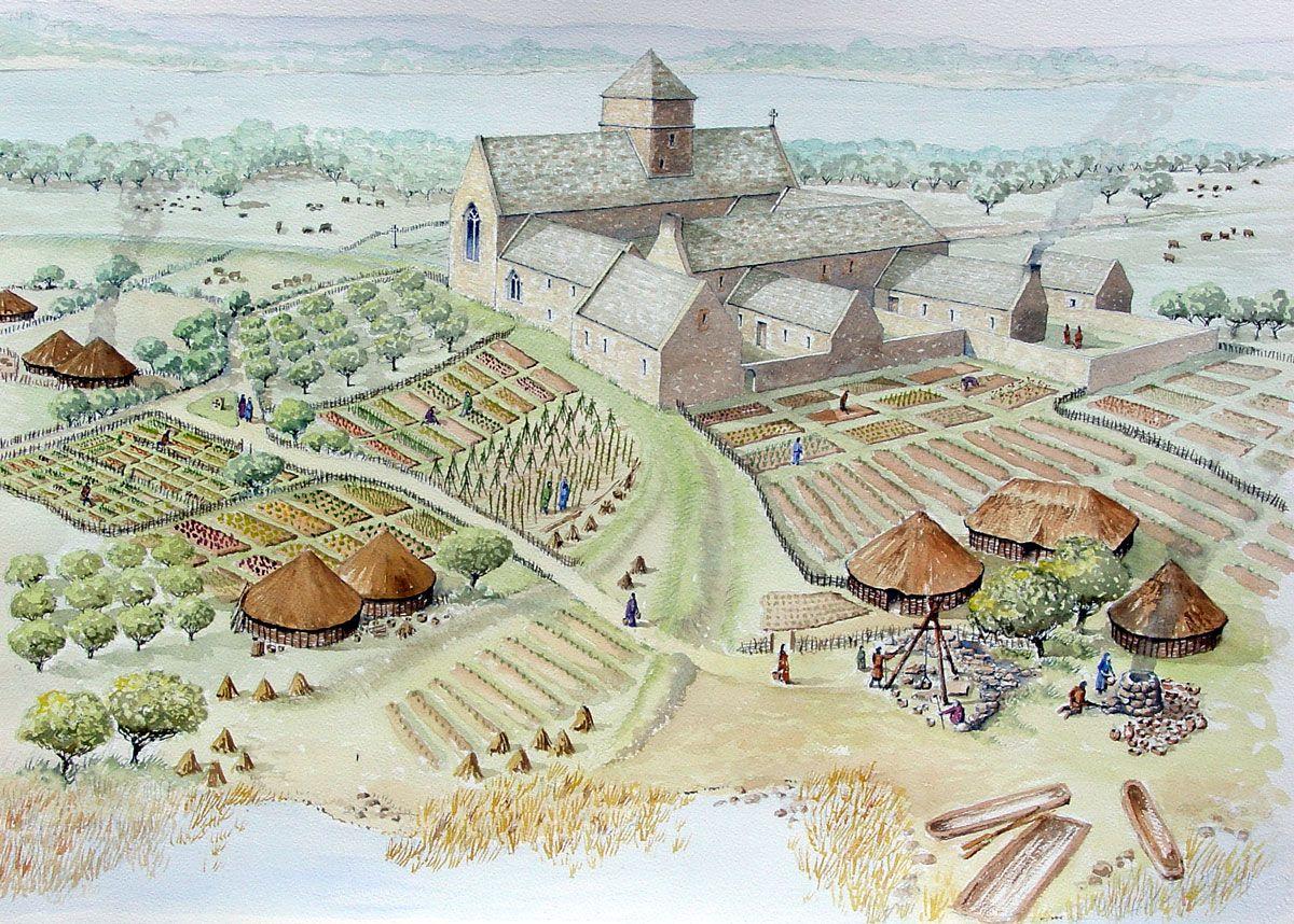 Keskiaikainen luostari.