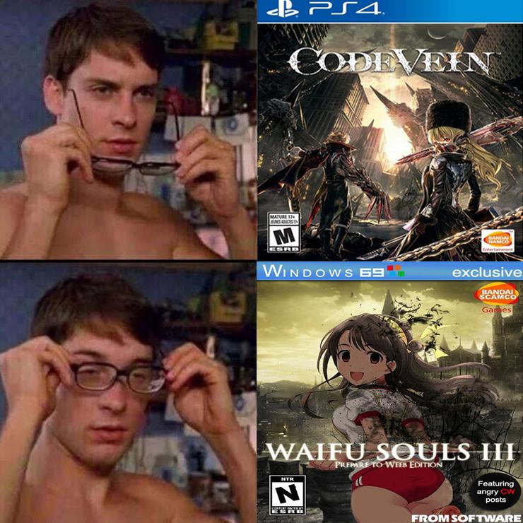 Code Vein Waifu In 2021 Dark Souls Meme Memes Funny Memes