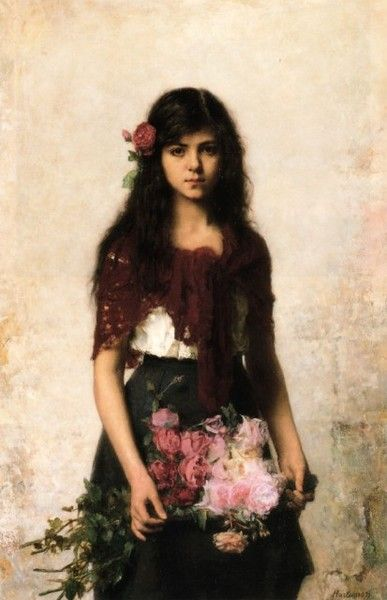 The Flower Seller by Alexei Harlamoff