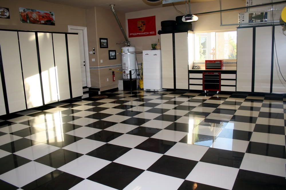 Black and white ceramic tiles for the garage tiffanybagala good