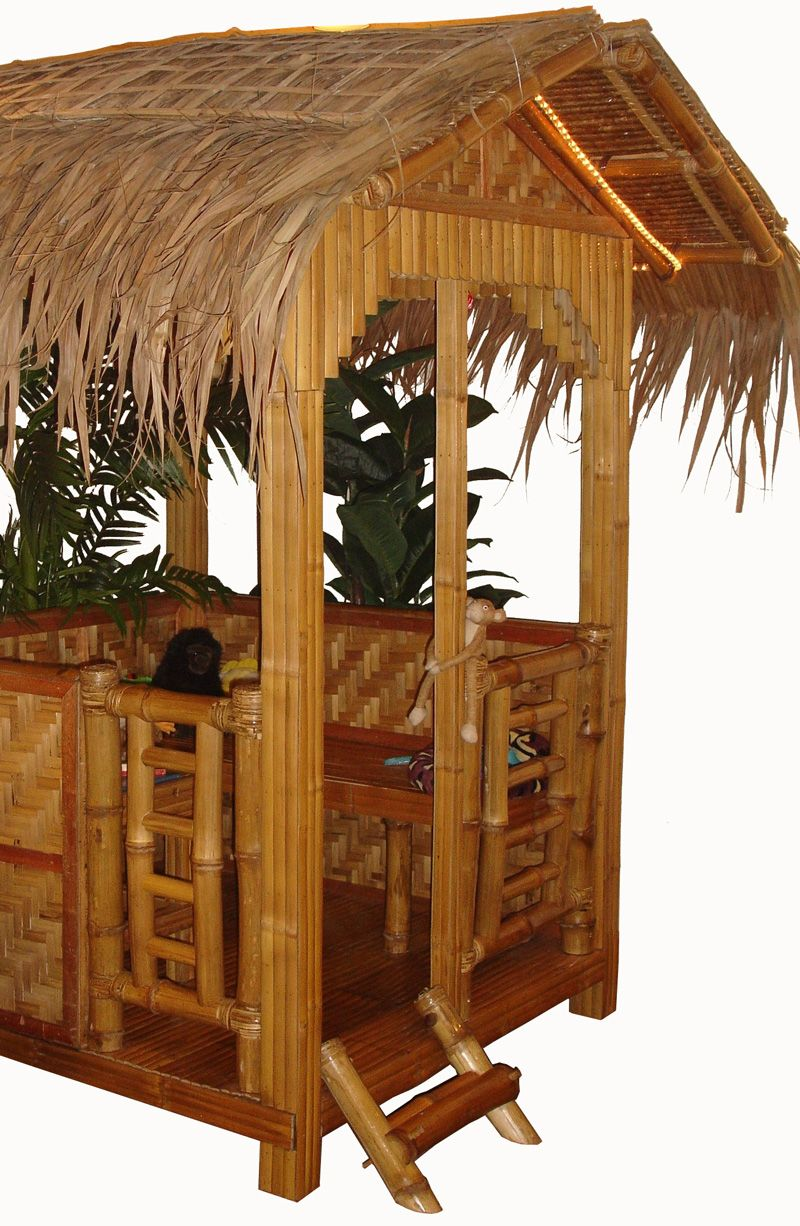 Tiki hut kids would love this backyard houses pinterest tiki hut oriental trading and - Bamboo bar design ideas ...