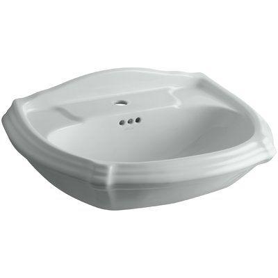 Kohler Portrait Ceramic 27 Pedestal Bathroom Sink With Overflow