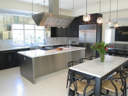 84 x36 custom design stainless steel kitchen island with sink cooktop condo ideas. Black Bedroom Furniture Sets. Home Design Ideas