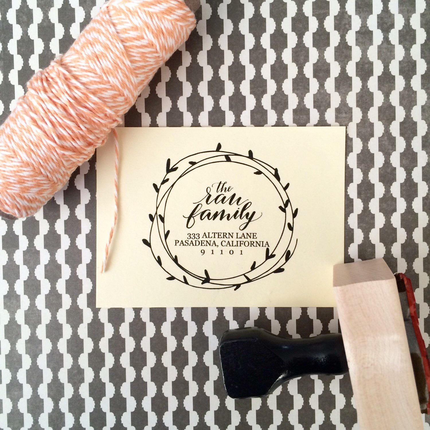 Address Stamp / Calligraphy Stamp / Wedding Stamp / Wedding Invitations / Housewarming Gift / Christmas Stamp / Save the Date / Wreath Stamp by SugarAndChicShop on Etsy https://www.etsy.com/listing/203914298/address-stamp-calligraphy-stamp-wedding