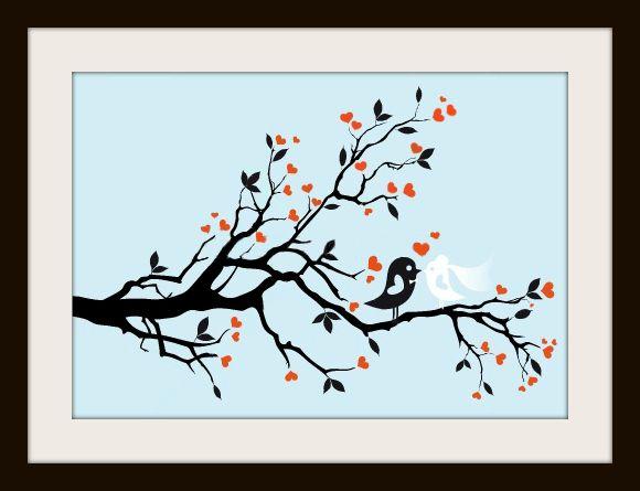 Beautiful Wedding Birds Cross Stitch Pattern   Crosstitch Patterns ...