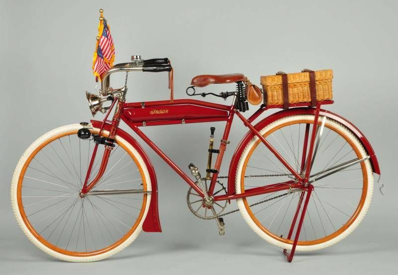 1917 Indian Model 51 T Deluxe Bicycle Offered For Auction 1684383 Bicycle Indian Motorcycle Old Bikes