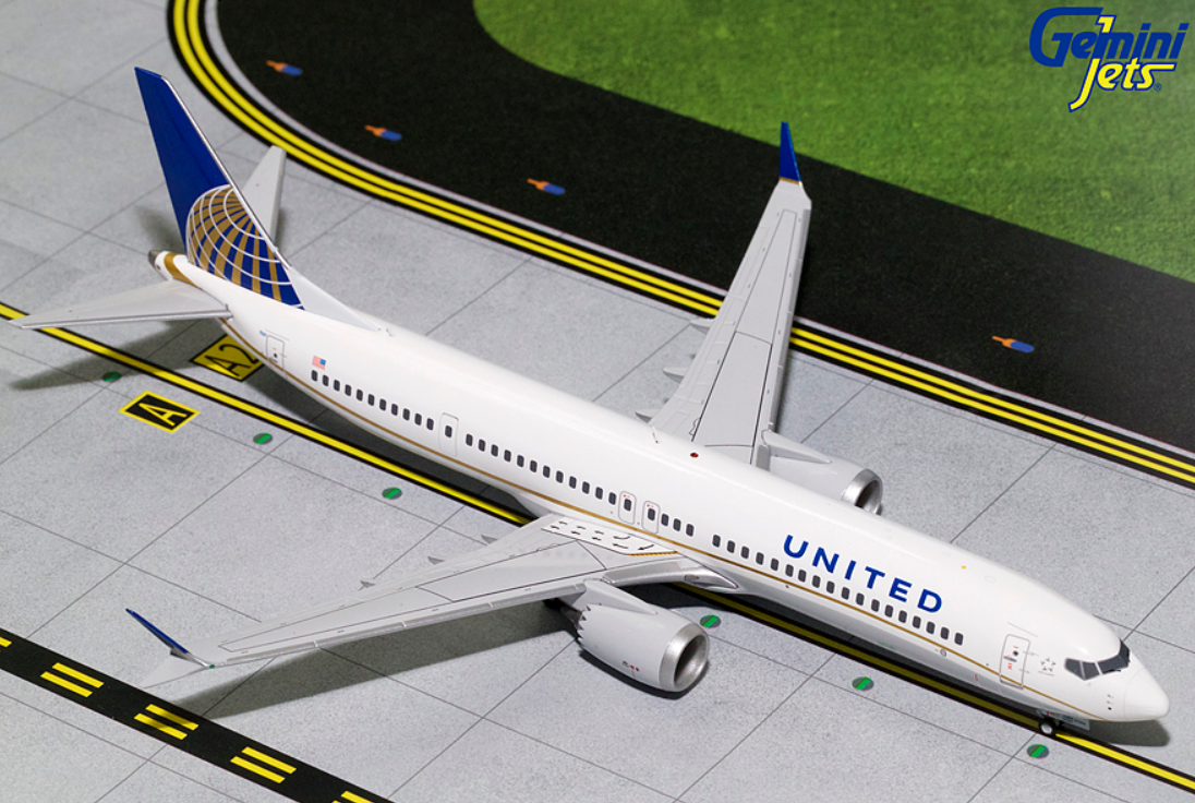1/200 GeminiJets United Airlines Boeing 737 MAX 9 Diecast