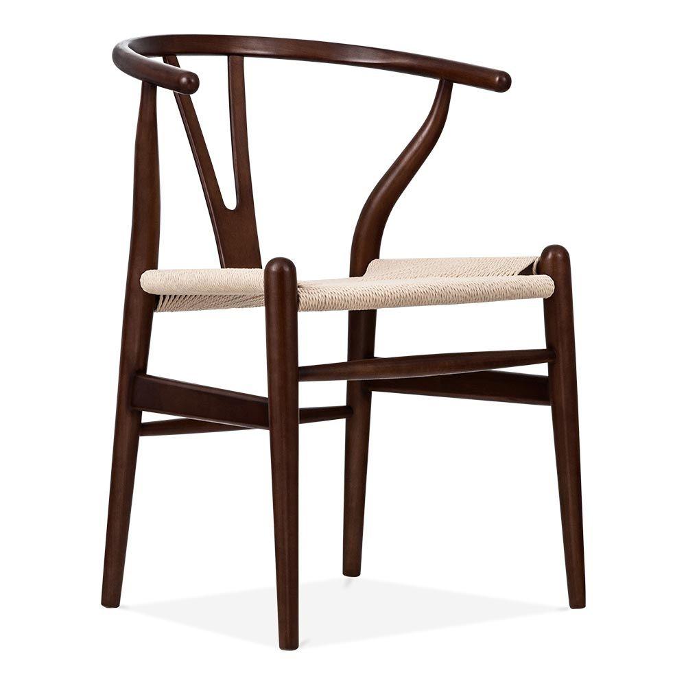 Beautiful Danish Designs Wishbone Chair   Brown / Natural