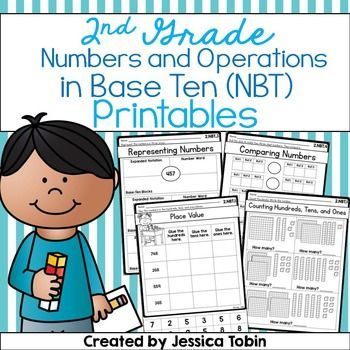 2nd Grade Math Printables Worksheets- Numbers and Operations in Base ...