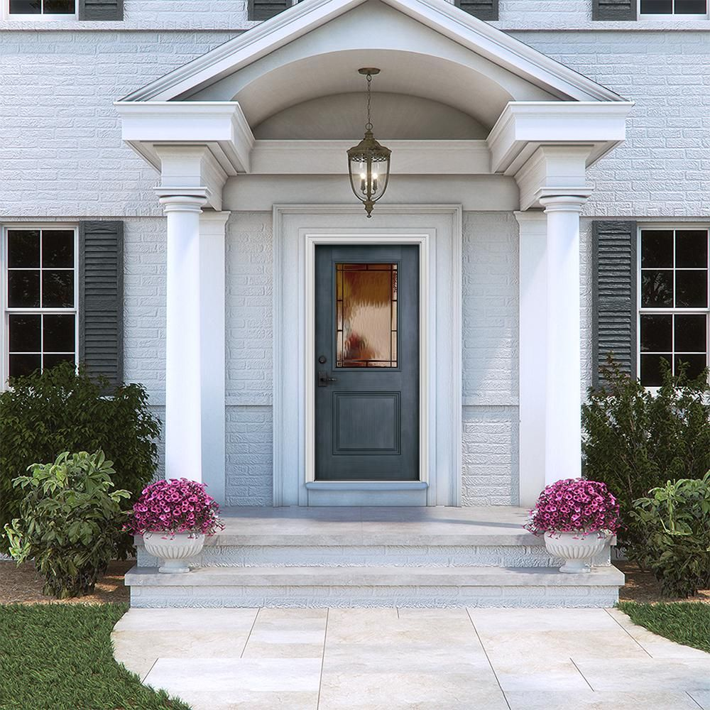 Pin By Nanae Yokohama On Diy Front Porch In 2020 Brick Exterior House Colonial House Exteriors Front Porch Design