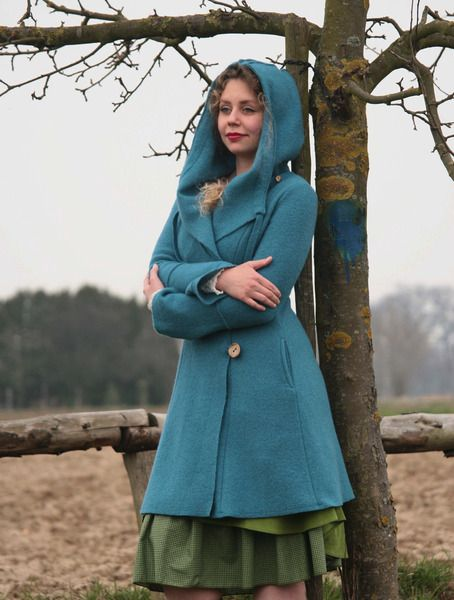 Long Coats – beautiful coat pure wool – a unique product by