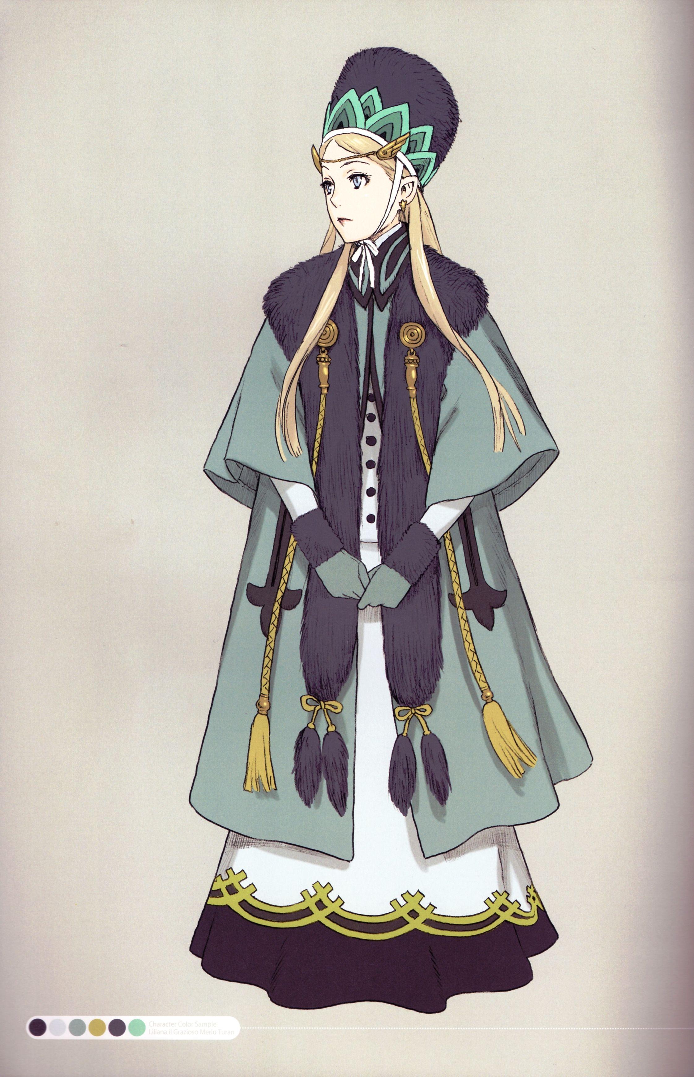 Last exile liliana il grazioso merlo turan ファンタジーの服