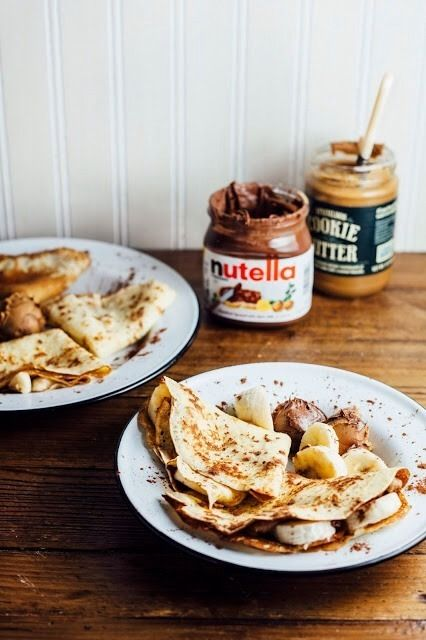 Pancakes with banana + nutella