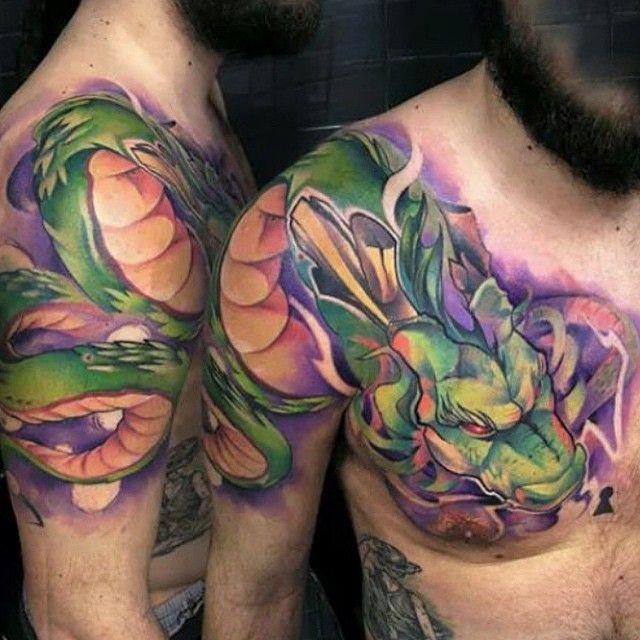 Holly On Instagram Insane Shenron Tattoo By Uncl Paul Amazing Find Any Cool Dbz Tattoo Z Tattoo Dbz Tattoo Dragon Ball Tattoo