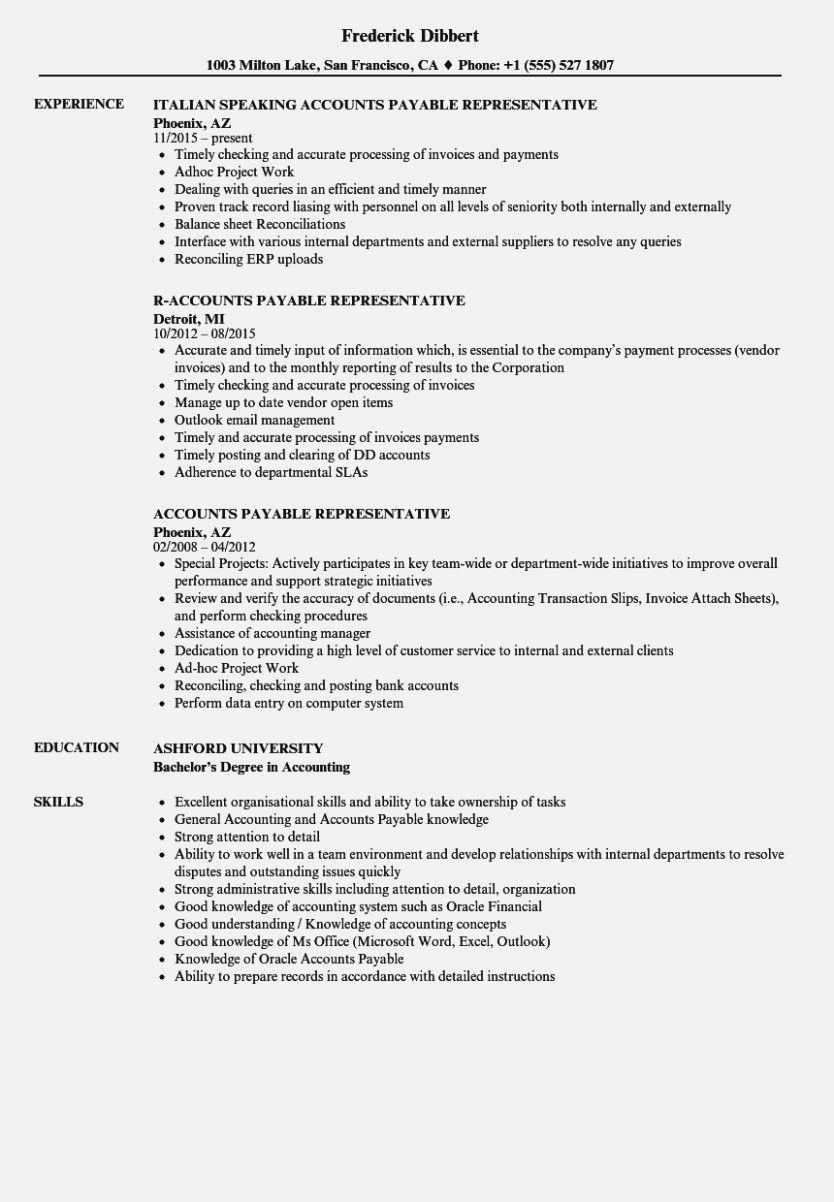 Accounts payable checklist template resume examples job