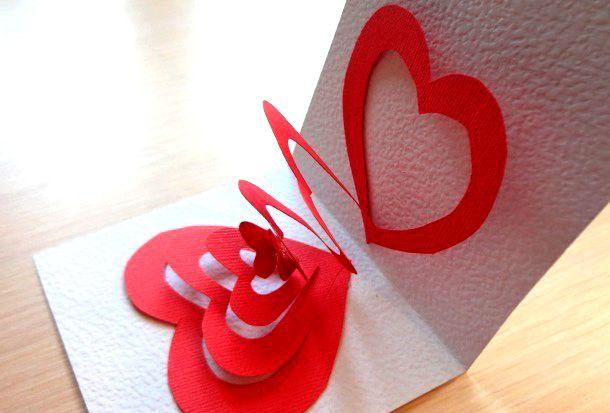 Как сделать открытку в форме сердца на день рождения, деда