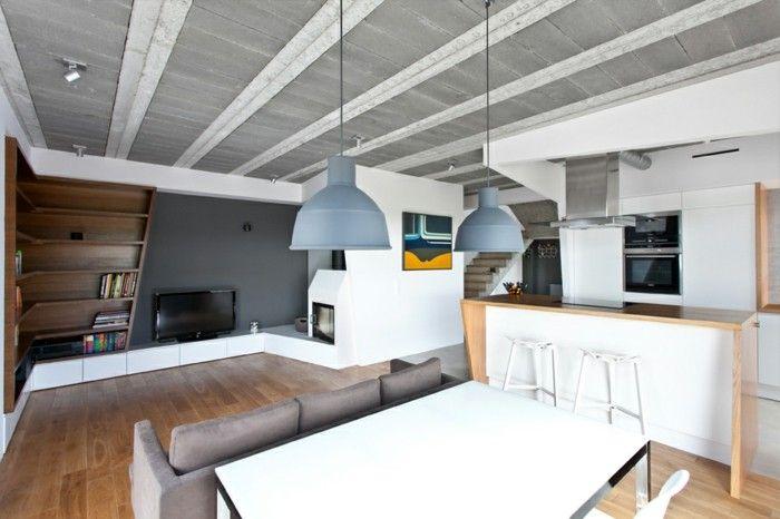 industrielampe industrielle hängelmapen im wohnzimmer ... - Moderne Wohnzimmerlampen