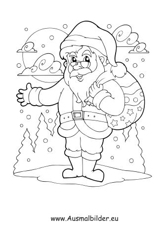 Ausmalbild Nikolaus Im Schnee Ausmalbilder Nikolaus Weihnachten Zeichnen Ausmalen