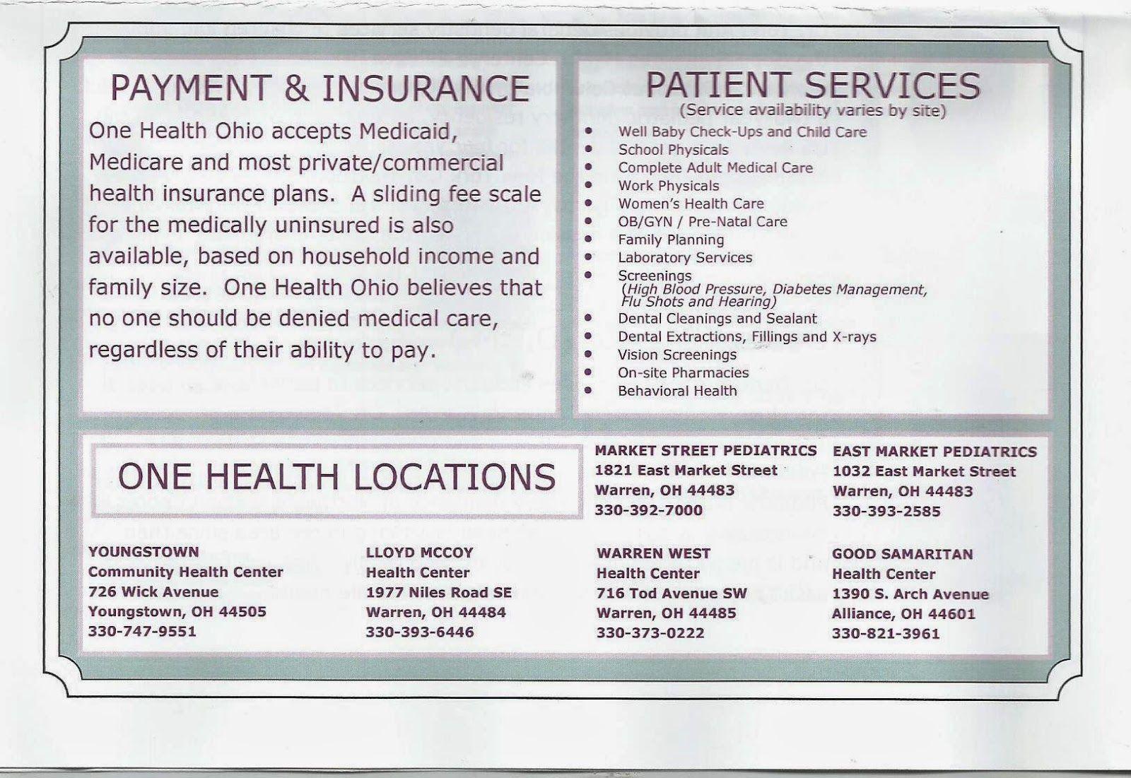 One Health Ohio First health, Health insurance plans