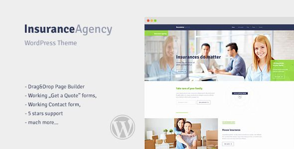 Insurance Wordpress Theme For Insurance Agency Quote Filo