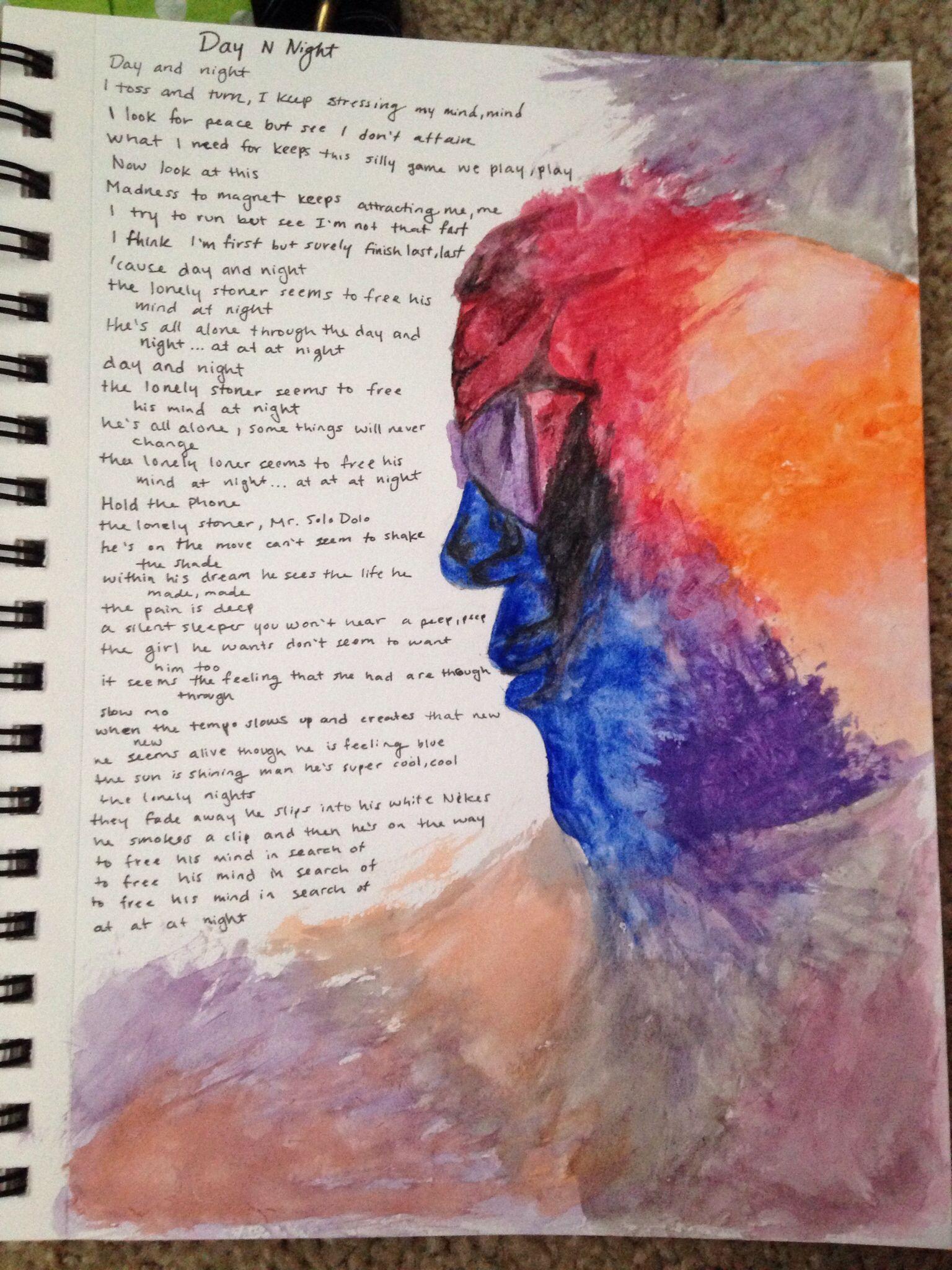 Kid Cudi Watercolor Painting