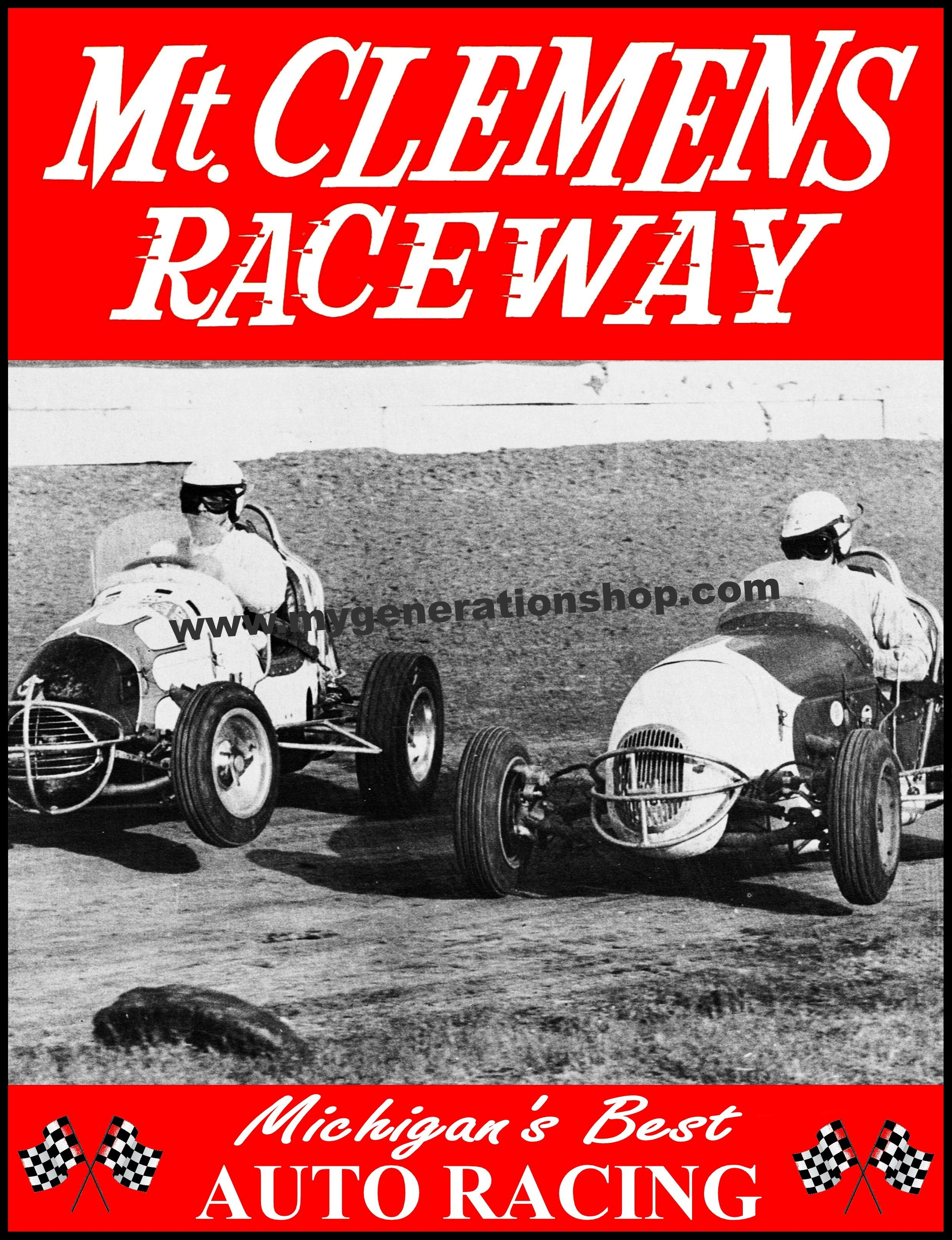 Little red wagon funny car pictures car canyon - Promotional Poster For Mt Clemens Raceway A Stock Car Track Once Located Near Mt