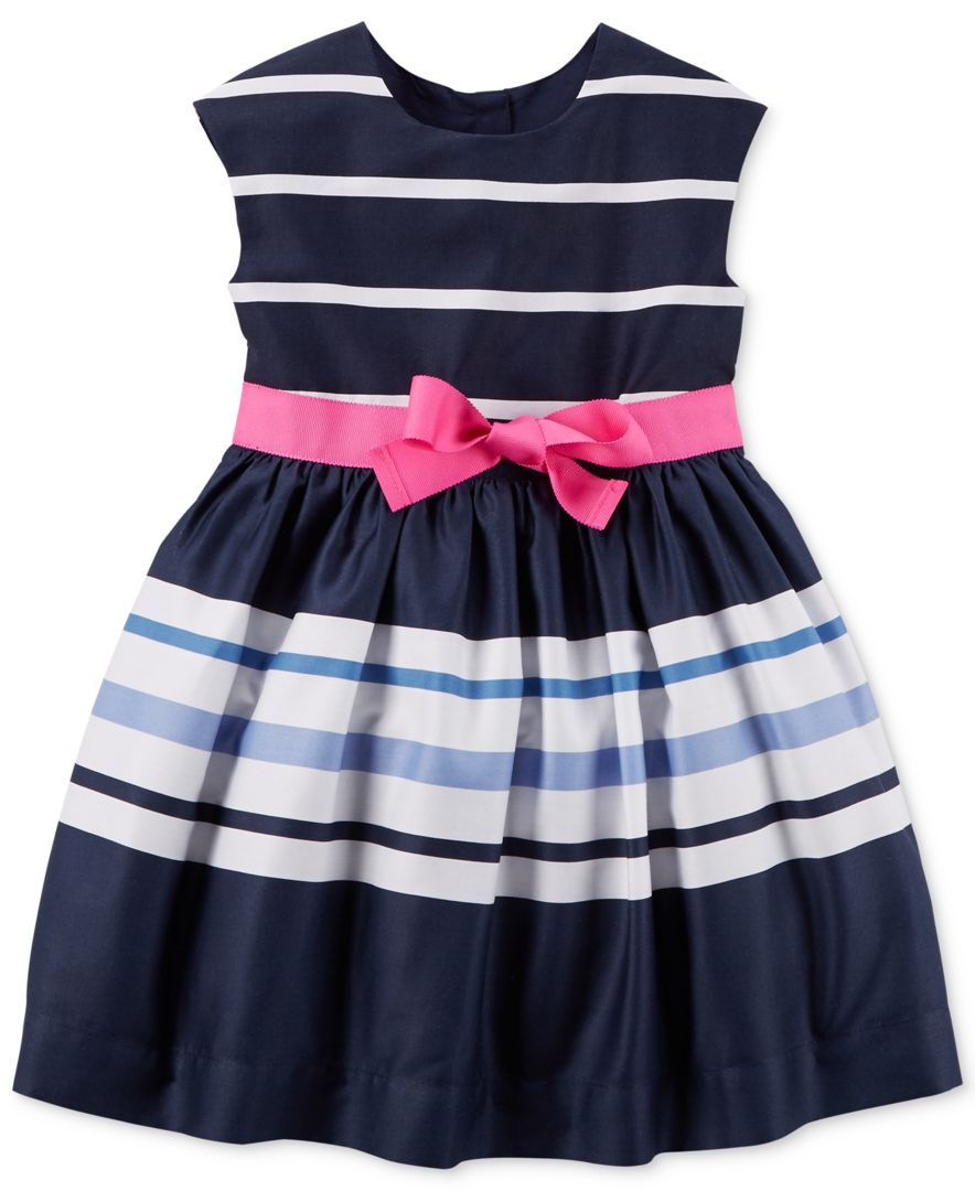 f84a0a41eed7 Carter s Toddler Girls  Navy Striped Bow Dress