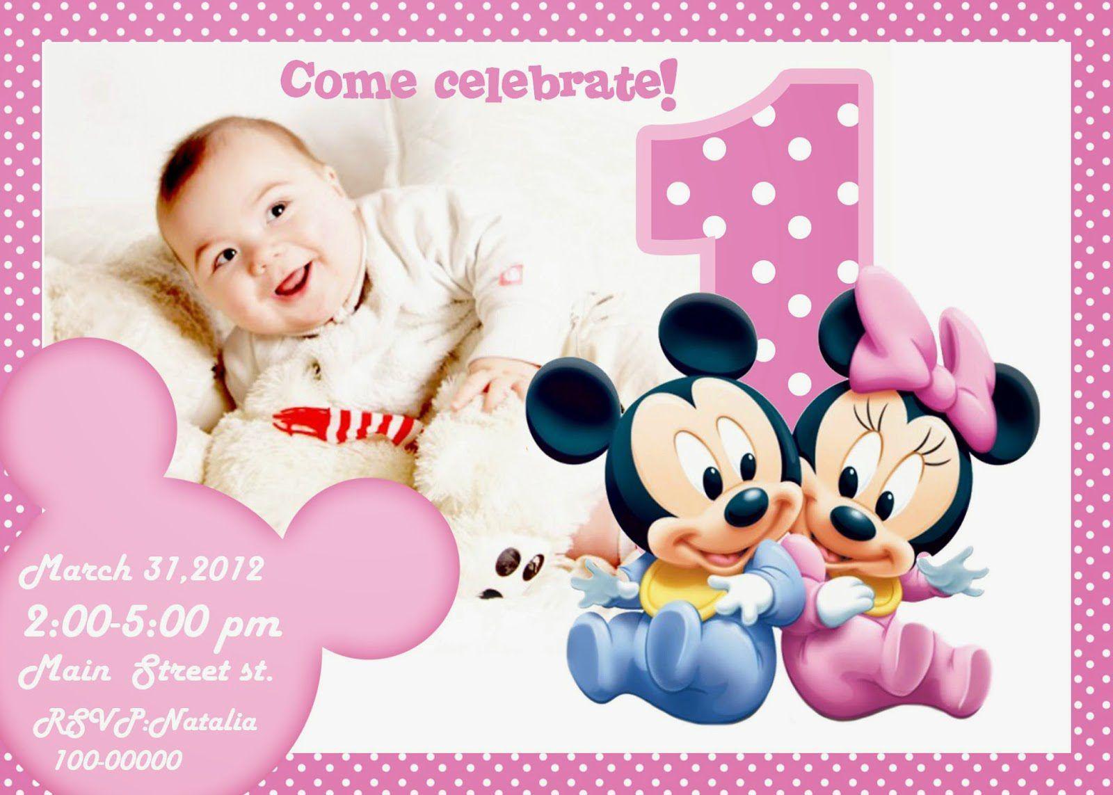 Free Online Printable 1st Birthday Invitations