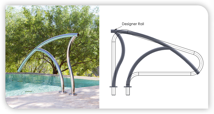 Pool Rails Swimming Pool Ladders Pool Handrails