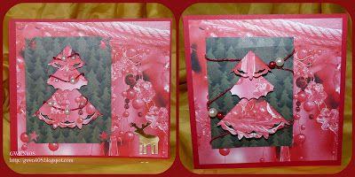 SAPIN EN PLIAGE 2, folded tree card