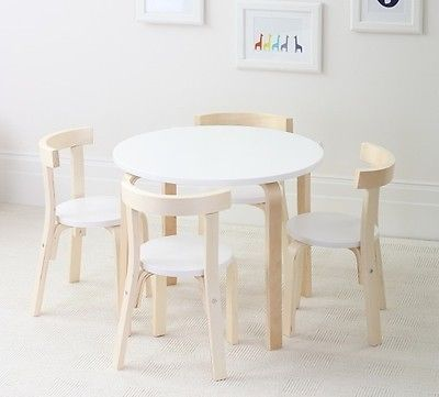 NEW Kids Child Childrens Toddler Birch Wood Table 4 Four Chairs Chair SET Sets | eBay & NEW Kids Child Childrens Toddler Birch Wood Table 4 Four Chairs ...
