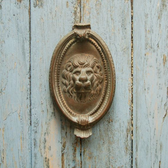 rare door knockers | Antique Lion Door Knocker Brass Oval Cameo - Rare Door Knockers Antique Lion Door Knocker Brass Oval Cameo