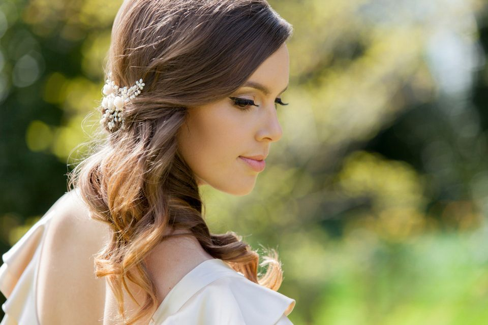 Bridal Headpiece by Vivien J Bridal Accessories: Elegant and Hand Crafted Wedding Jewellery