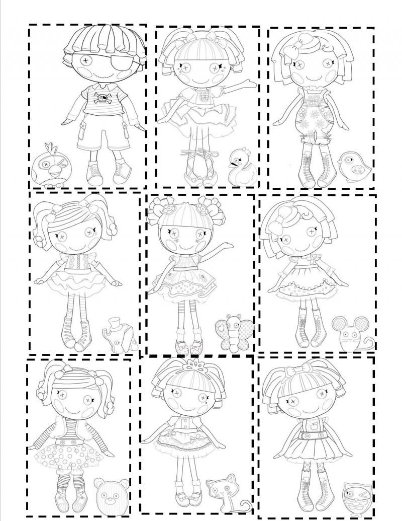 free lalaloopsy coloring pages with all the characters - Free Lalaloopsy Coloring Pages