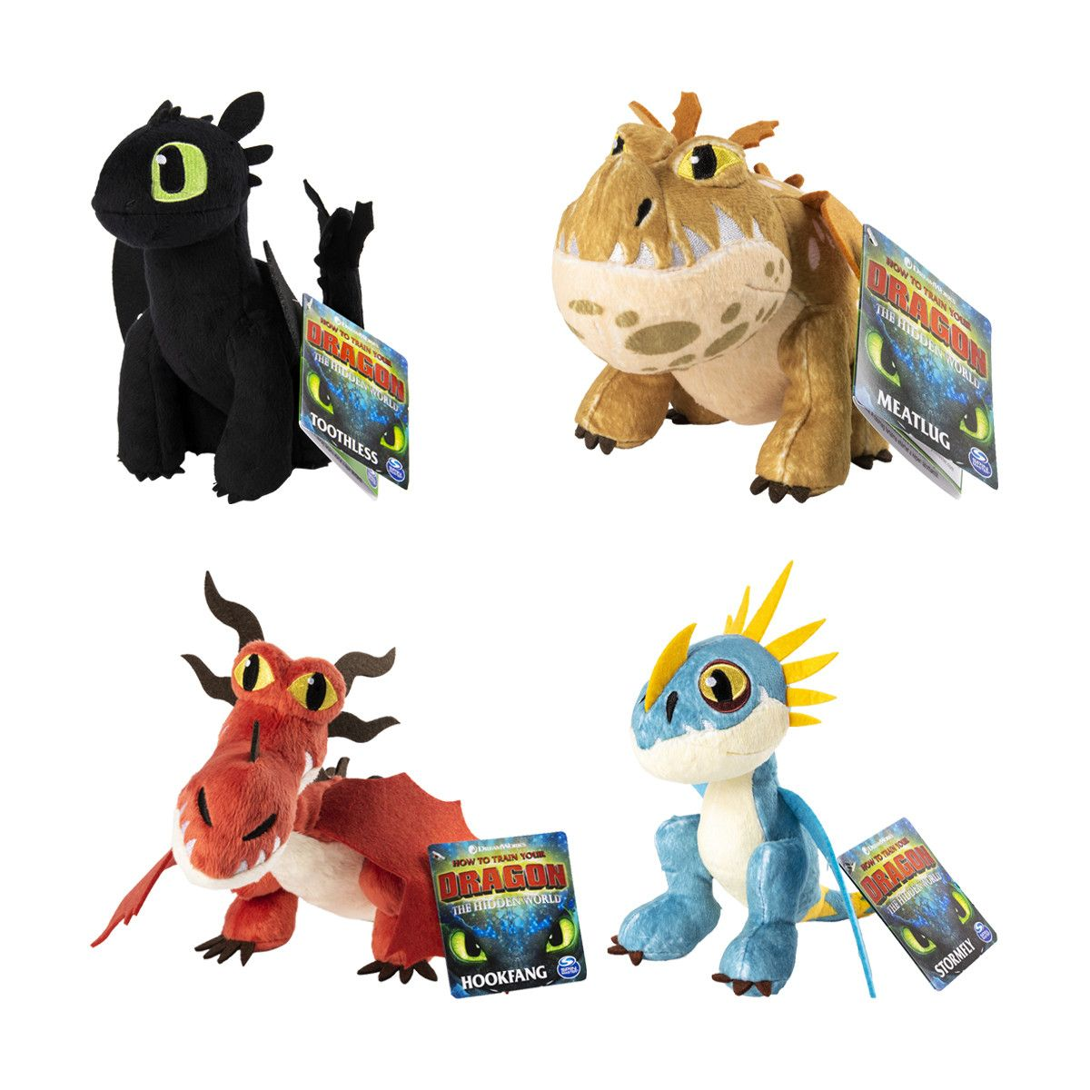 Dreamworks how to train your dragon plush toy assorted