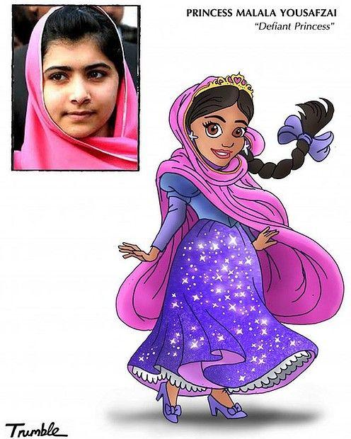 the Disney Princess formula: Princess Malala Yousafzai -