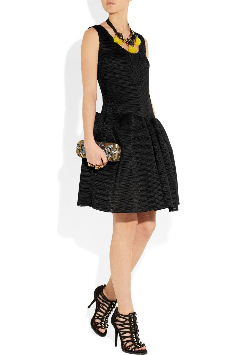 Lanvin Pleated mesh dress (With