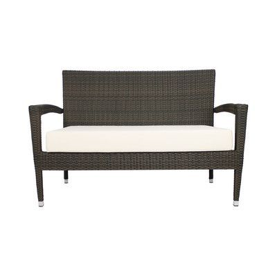 source outdoor furniture sierra wicker. Source Outdoor Zen Loveseat With Cushion Color: Wheat Furniture Sierra Wicker