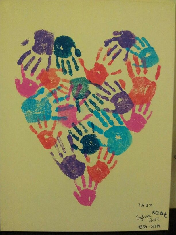 Schilderij Voor Oma S 80e Verjaardag Crafts Pinterest Diy
